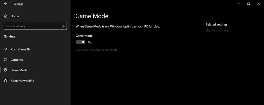 win 10 game modes